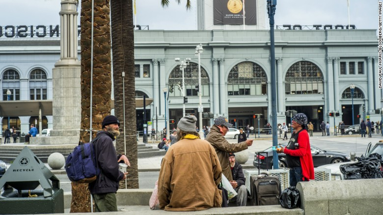 """San Francisco has dispatched a team of social workers, cops and fire fighters to remove the homeless from the long-time encampment that will be the site of """"Super Bowl City,"""" a fan village that will feature concerts, interactive games and celebrity appearances."""